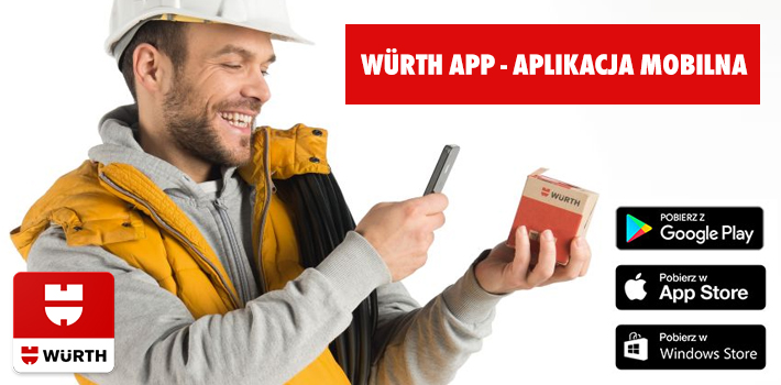Wurth App - Aplikacja mobilna na smartfony i tablety z systemem Android, iOS i Windows Mobile
